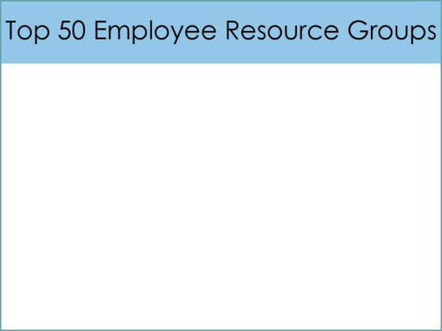Top 50 Employee Resource Groups